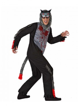 Disfraz de Lobo Sangriento para hombre