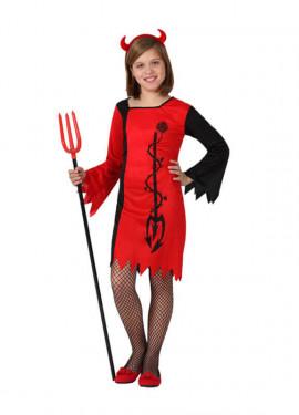 Disfraz de Diablesa roja para niñas