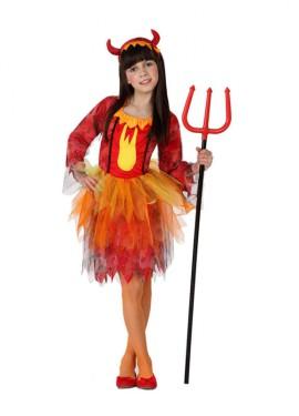 Disfraz de Demonia Fuego para niñas de 10 a 12 años