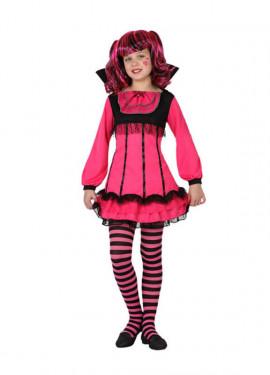 Disfraz de Vampiresa Rosa para niñas