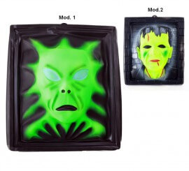 Placa pared decoración Halloween PVC, precio U.