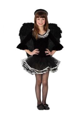 Disfraz de Ángel negro para niñas