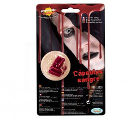 Capsules de sangs pour Halloween
