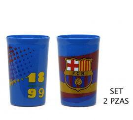 Set de 2 Vasos Deporte blaugrana del FC Barcelona