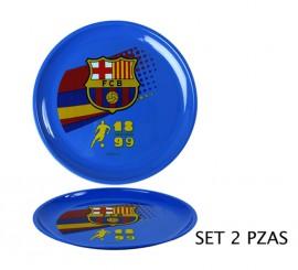 Set de 2 Platos Deporte blaugrana del FC Barcelona