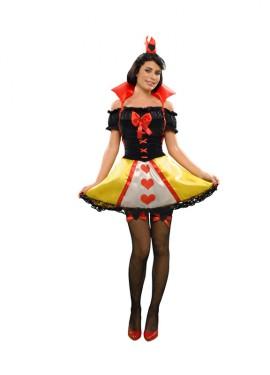 Disfraz de Princesa Corazones para mujer talla M-L