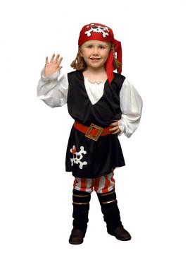 Disfraz barato de niña Pirata