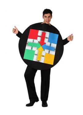 Disfraz de Tablero del Parchís para adultos
