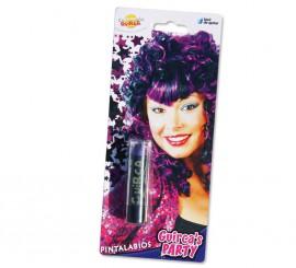 Pintalabios o lápiz de labios de color violeta