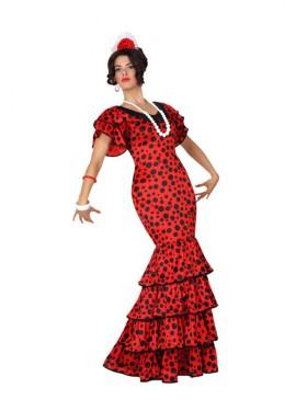Disfraz de Flamenca a lunares para mujer