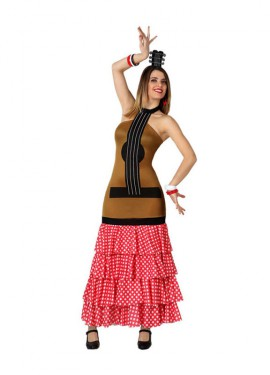 Disfraz de Guitarra Flamenca para mujer
