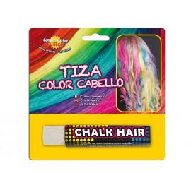 Blister Barra de Tiza para el pelo de color Blanco