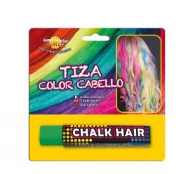 Blister Barra de Tiza para el pelo de color Verde