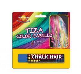 Blister Barra de Tiza para el pelo de color Azul