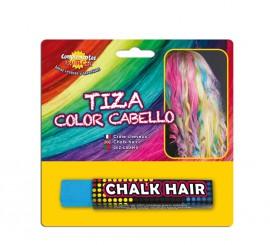 Blister Barra de Tiza para el pelo de color Azul Cielo
