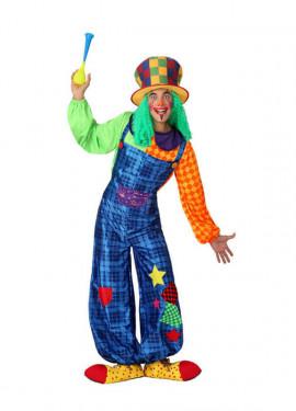 Disfraz de Payaso colores para hombres