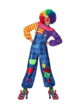 Disfraz de Payasa colores para mujeres