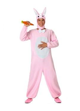 Disfraz de Conejo rosa para hombre