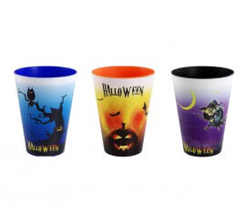 Set de 3 vasos Grafic Medium de 0,43 L. para Halloween