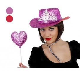 Set de Cowgirl con Sombrero y Varita de PVC 2 surtidos
