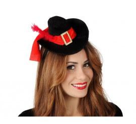 Mini Sombrero de Mosquetera con diadema