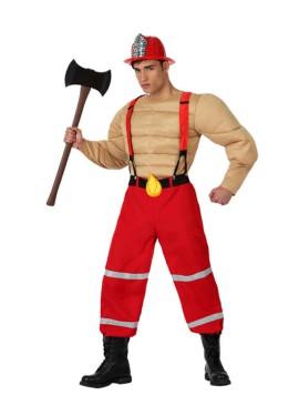 Déguisement de Sapeur-pompier musclé pour homme plusieurs tailles