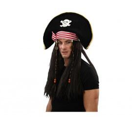 Chapeau de Pirate avec Perruque
