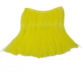 Falda Hawaiana amarilla de rafia