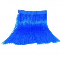 Falda Hawaiana azul de rafia