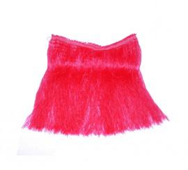 Falda Hawaiana roja de rafia