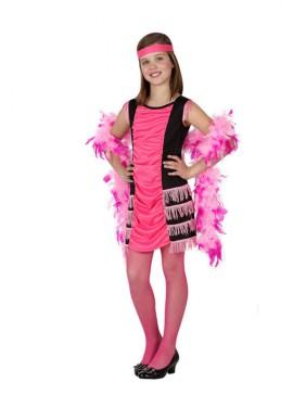 Disfraz de Cabaretera rosa para niñas