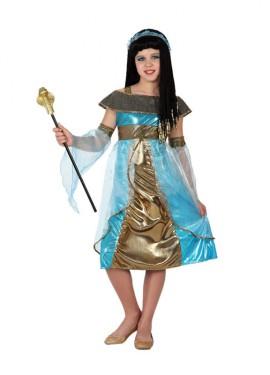 Disfraz de Egipcia azul para niñas