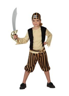 Déguisement Enfants Garçon Pirate Tête de Mort plusieurs tailles