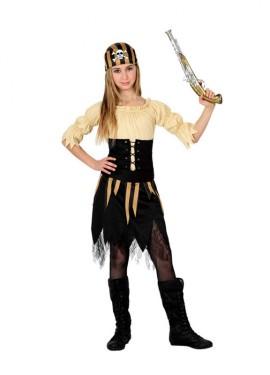 Disfraz de Pirata Calavera para niñas