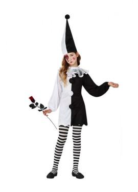Disfraz de Pierrot para niñas