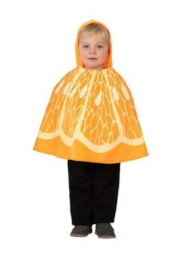 Disfraz o Poncho de Naranja talla única de bebé