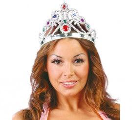 Corona o Diadema de Reina de color plata ajustable