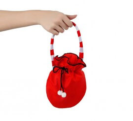 Bolso rojo con borlas