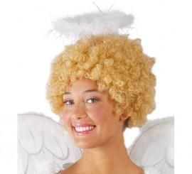Diadema Corona o Halo marabú Angel Carnaval y Navidad