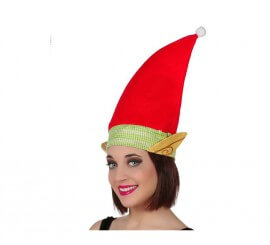 Sombrero o Gorro rojo de Elfo de tela