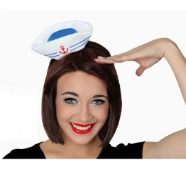 Mini Sombrero de Marinera con diadema