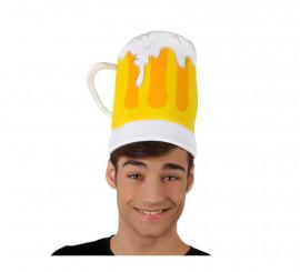 Sombrero o Gorro de Jarra de Cerveza con espuma