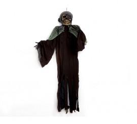 Esqueleto Pirata GIGANTE colgante con luz 1,80 m