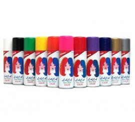 Spray Laca Fluorescente cabello de color rojo