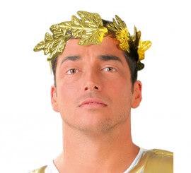 Corona de César Emperador de Roma de laurel de plástico