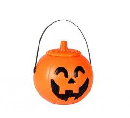 Calabaza Colgante con Tapa de 18 cm para Halloween
