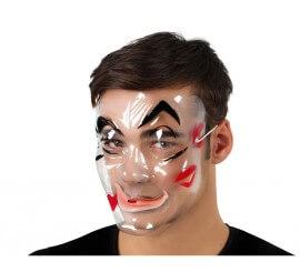 Máscara transparente de hombre de PVC