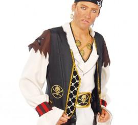Chaleco y cinturón de Pirata adulto