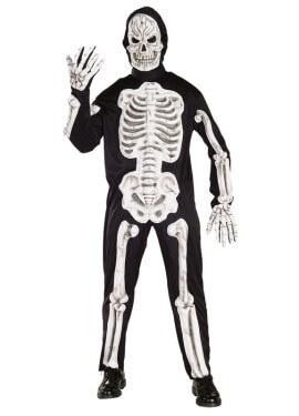 Disfraz de Esqueleto Huesos en 3D adulto Halloween