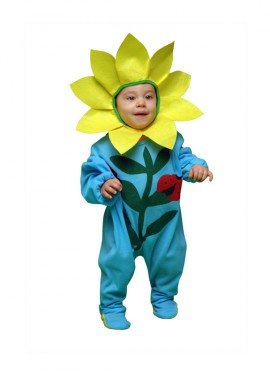 Disfraz barato de Flor para bebés de 6 a 12 meses